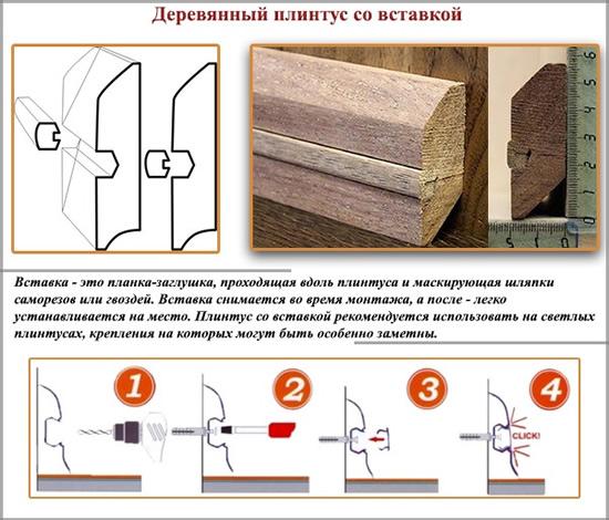 Как выбрать и правильно установить деревянный плинтус из массива